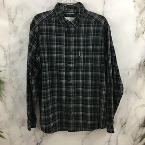Columbia Plaid Long Sleeve Button Down Shirt EF03